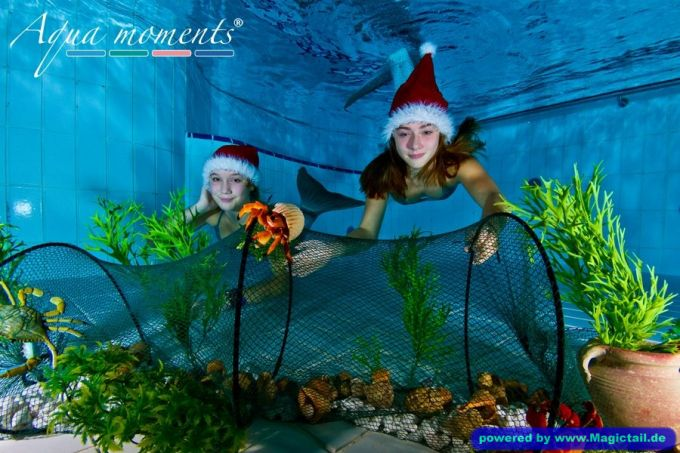 Magictail :Two mermaids at Christmas-Magictail
