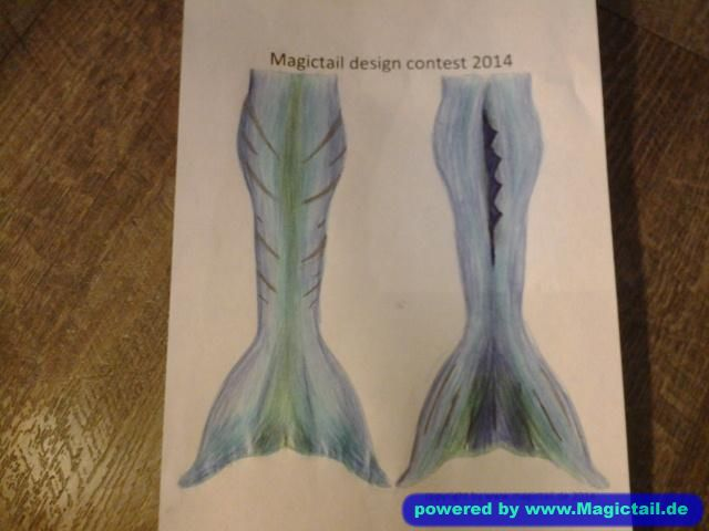 Design Contest 2014:Blue mermaid-Magictail GmbH