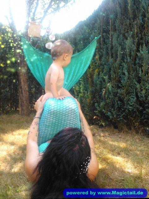 Eileen, Mermaid Motherhood:Sitting on mommy´s tail-Eileen S.