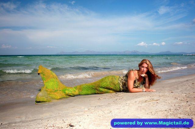meerjungfrau-live.de Meerjungfrau Natalie:shooting auf mallorca strand von alcudia-Meerjungfrau Natalie